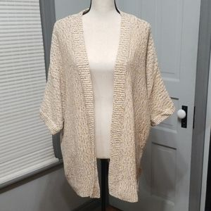 Lane Bryant Metallic Knit Cardigan